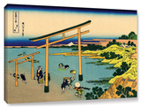 The Waterfall Of Amida Behind The Kiso Road, Gallery-Wrapped Canvas Stretched Canvas Print by Katsushika Hokusai