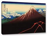 Shower Below The Summit (Sanka Hakuu), Gallery-Wrapped Canvas Stretched Canvas Print by Katsushika Hokusai