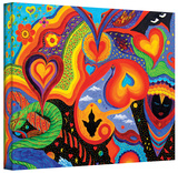 Hearts, Gallery-Wrapped Canvas Stretched Canvas Print by Marina Petro