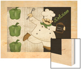 Chef Delizioso Wood Print by Piper Ballantyne