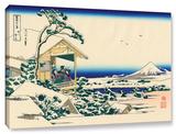 Tea House At Koishikawa. The Morning After A Snowfall., Gallery-Wrapped Canvas Stretched Canvas Print by Katsushika Hokusai