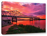 Bridges At Sunrise, Gallery-Wrapped Canvas Stretched Canvas Print by Steve Ainsworth