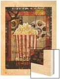 Movie Popcorn Wood Print by Eric Yang