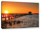 House At The End Of The Pier, Gallery-Wrapped Canvas Stretched Canvas Print by Steve Ainsworth