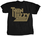 Thin Lizzy- Gold Metallic Logo T-Shirt