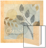 Cherish Wood Print by Piper Ballantyne