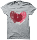 Womens: Fallout Boy- Weathered Hearts T-shirts