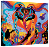 Karmic Lovers, Gallery-Wrapped Canvas Stretched Canvas Print by Marina Petro
