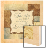 Family Is a Little World Wood Print by Piper Ballantyne