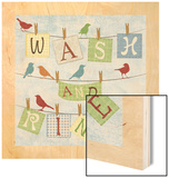 Wash and Rinse Wood Print by Piper Ballantyne