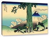 Mishima Pass In Kai Province, Gallery-Wrapped Canvas Stretched Canvas Print by Katsushika Hokusai