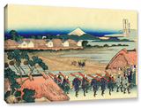 Nakahara In The Sagami Province, Gallery-Wrapped Canvas Stretched Canvas Print by Katsushika Hokusai