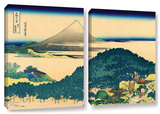 The Coast Of Seven Leages In Kamajura, 2 Piece Gallery-Wrapped Canvas Set Prints by Katsushika Hokusai