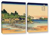 Enoshima In The Sagami Province, 2 Piece Gallery-Wrapped Canvas Set Prints by Katsushika Hokusai