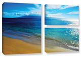 Blue Hawaii, 3 Piece Gallery-Wrapped Canvas Flag Set Gallery Wrapped Canvas Set by Kathy Yates