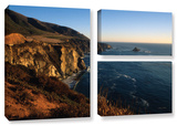 Golden Glow On Big Sur', 3 Piece Gallery-Wrapped Canvas Flag Set Gallery Wrapped Canvas Set by Kathy Yates