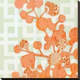 Tangerine Dream I Stretched Canvas Print by Sally Bennett Baxley