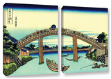 Fuji See Through The Mannen Bridge At Fukagawa, 2 Piece Gallery-Wrapped Canvas Set Posters by Katsushika Hokusai