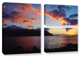 Last Light Over Bali Hai, 3 Piece Gallery-Wrapped Canvas Flag Set Gallery Wrapped Canvas Set by Kathy Yates