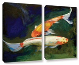 Feng Shui Koi Fish, 2 Piece Gallery-Wrapped Canvas Set Gallery Wrapped Canvas Set by Michael Creese