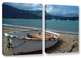 Waiting To Row In Hanalei Bay, 2 Piece Gallery-Wrapped Canvas Set Gallery Wrapped Canvas Set by Kathy Yates