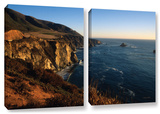 Golden Glow On Big Sur', 2 Piece Gallery-Wrapped Canvas Set Posters by Kathy Yates
