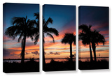 Tropical Sunset Ii, 3 Piece Gallery-Wrapped Canvas Set Gallery Wrapped Canvas Set by Steve Ainsworth