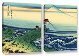 Kajikazawa In Kai Province, 2 Piece Gallery-Wrapped Canvas Set Print by Katsushika Hokusai