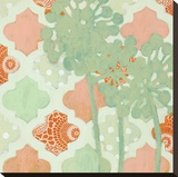 Tangerine Dream II Stretched Canvas Print by Sally Bennett Baxley