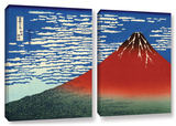Red Fuji, 2 Piece Gallery-Wrapped Canvas Set Posters by Katsushika Hokusai