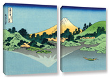 The Fuji Reflects In Lake Kawaguchi, Seen From The Misaka Pass In The Kai Province, 2 Piece Gallery Art by Katsushika Hokusai