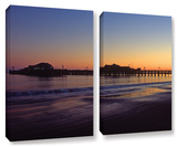 Santa Barbara Pier At Sunset, 2 Piece Gallery-Wrapped Canvas Set Prints by Kathy Yates