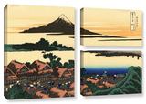 Dawn At Isawa In The Kai Province , 3 Piece Gallery-Wrapped Canvas Flag Set Gallery Wrapped Canvas Set by Katsushika Hokusai