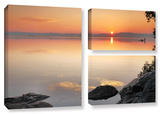 Potomac Sunrise, 3 Piece Gallery-Wrapped Canvas Flag Set Gallery Wrapped Canvas Set by Steve Ainsworth