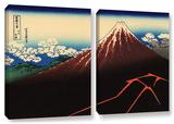 Shower Below The Summit (Sanka Hakuu), 2 Piece Gallery-Wrapped Canvas Set Posters by Katsushika Hokusai