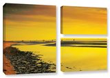 Mellow Yellow Morning, 3 Piece Gallery-Wrapped Canvas Flag Set Gallery Wrapped Canvas Set by Steve Ainsworth