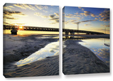 Hatteras Pools And Bridge, 2 Piece Gallery-Wrapped Canvas Set Art by Steve Ainsworth