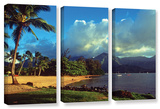 Golden Light On Hanalei, 3 Piece Gallery-Wrapped Canvas Set Gallery Wrapped Canvas Set by Kathy Yates