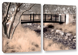Bridge Over Wash, 2 Piece Gallery-Wrapped Canvas Set Poster by Linda Parker