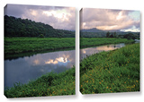 Hanalei River Reflections, 2 Piece Gallery-Wrapped Canvas Set Gallery Wrapped Canvas Set by Kathy Yates