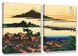 Dawn At Isawa In The Kai Province , 2 Piece Gallery-Wrapped Canvas Set Posters by Katsushika Hokusai