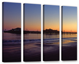 Santa Barbara Pier At Sunset, 4 Piece Gallery-Wrapped Canvas Set Prints by Kathy Yates