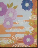 Three Kimonos Right Stretched Canvas Print by Sally Bennett Baxley