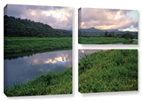 Hanalei River Reflections, 3 Piece Gallery-Wrapped Canvas Flag Set Gallery Wrapped Canvas Set by Kathy Yates