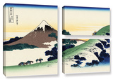 Mt Fuji In The Sunset, 3 Piece Gallery-Wrapped Canvas Flag Set Gallery Wrapped Canvas Set by Katsushika Hokusai
