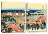 Nakahara In The Sagami Province, 2 Piece Gallery-Wrapped Canvas Set Art by Katsushika Hokusai