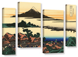 Dawn At Isawa In The Kai Province , 4 Piece Gallery-Wrapped Canvas Staggered Set Poster by Katsushika Hokusai