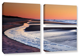 Tide Pools At Sunrise, 3 Piece Gallery-Wrapped Canvas Flag Set Gallery Wrapped Canvas Set by Steve Ainsworth