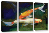 Feng Shui Koi Fish, 3 Piece Gallery-Wrapped Canvas Set Gallery Wrapped Canvas Set by Michael Creese
