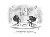 """I understand you spent the summer on someone's ass. Can you tell us what ..."" - New Yorker Cartoon Premium Giclee Print by Bob Eckstein"